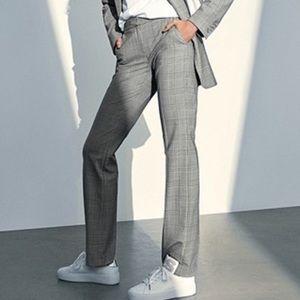 MICHEAL Micheal Kors Glen Plaid Grey Trousers